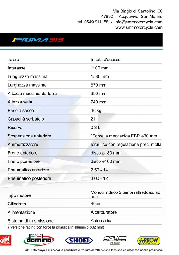 MINICROSS SMR 50 CC PRIMA 913