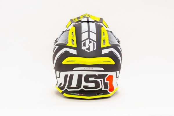 JUST1 J12 VECTOR WHITE-FLUO YELLOW-CARBON