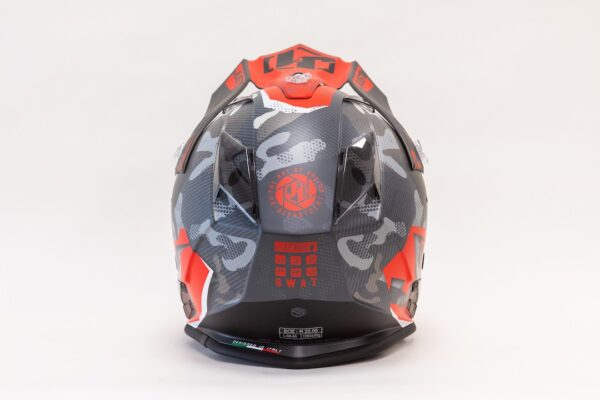 JUST1 J32 PRO (Tg S) SWAT CAMO-RED FLUO